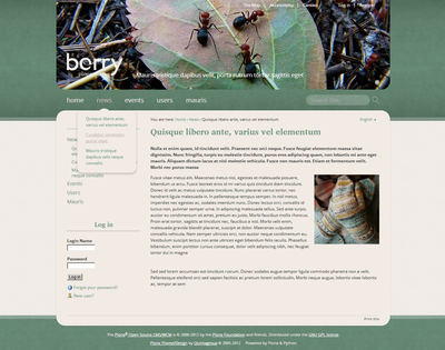 Berry Plone Theme
