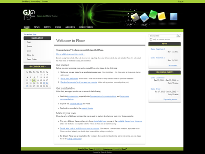 GreenJet Plone Theme