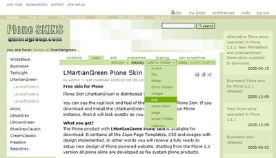 LMartianGreen Plone Skin