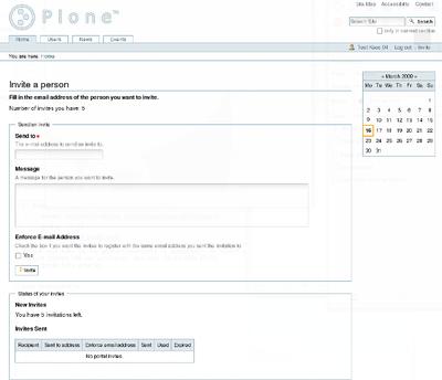Plone Invite