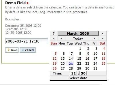Popup Calendar Widget