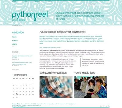 Python Reel Plone Theme
